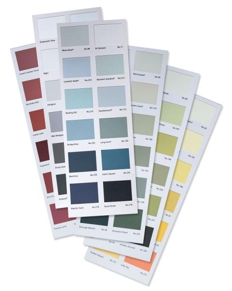 Mylands Farbkarten Kreidefarbe Shabby World