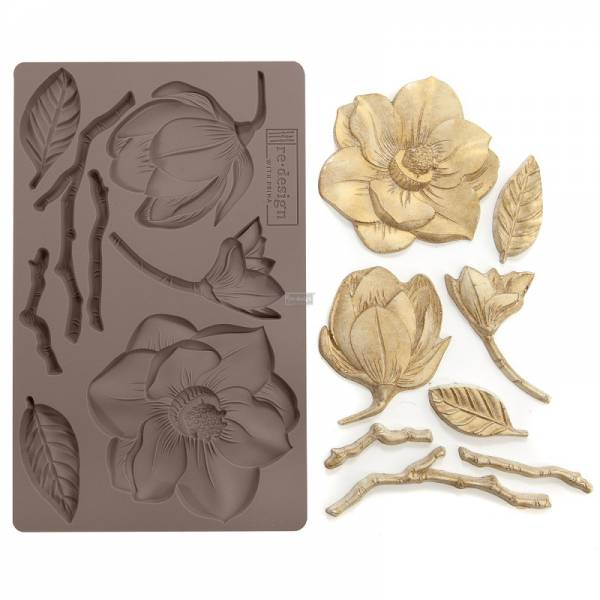 Shabby World design Mould Winter Blooms redesignwithprima