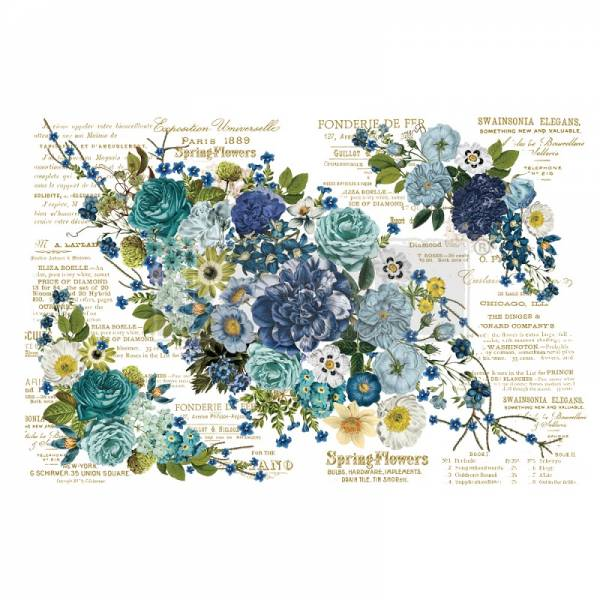 ReDesign Transferfolie Cosmic Roses Shabby World Rub on