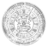 Transferfolie Shabby World Clock
