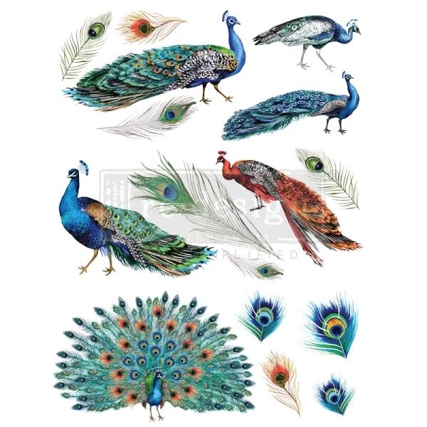 ReDesign Transferfolie Peacock Dreams Shabby World Rub on