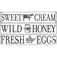 Transferfolie Shabby World farm-fresh signage