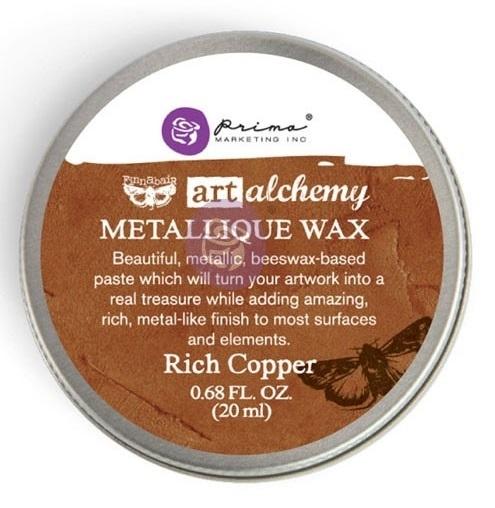 ReDesignwithprima Wachs Alchemy Metallique Rich Copper Decor Wachs