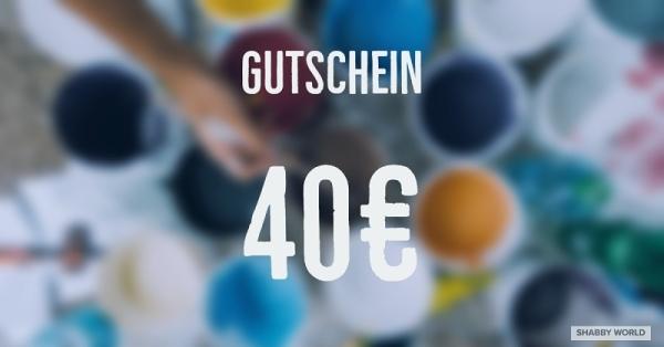 Shabby World Gutschein 40 Euro